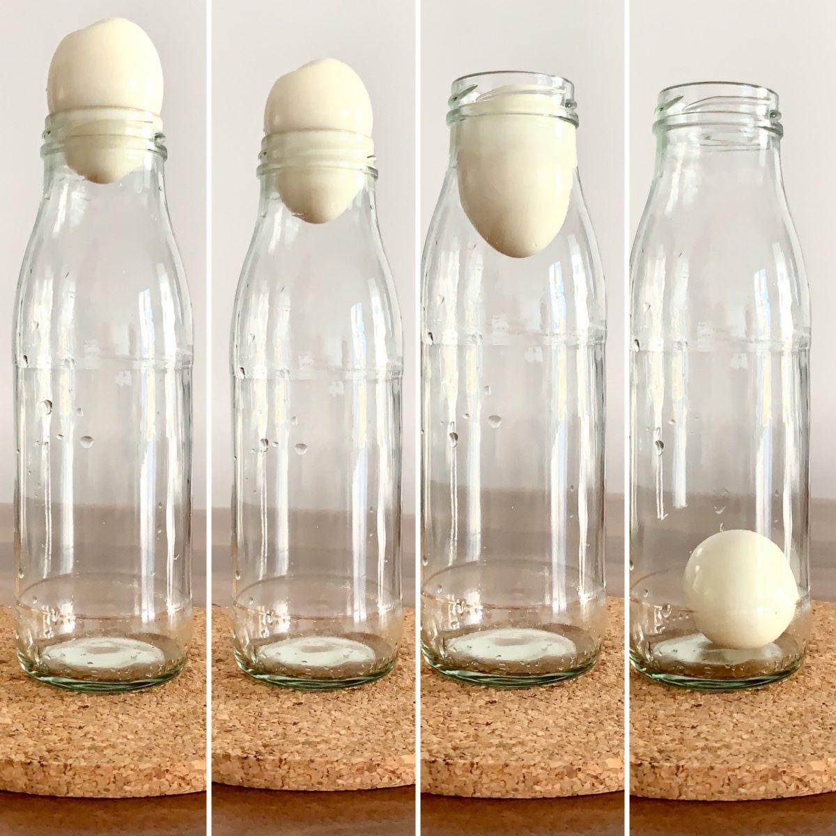 SCHNELL GEFORSCHT: Ei in die Flasche zaubern