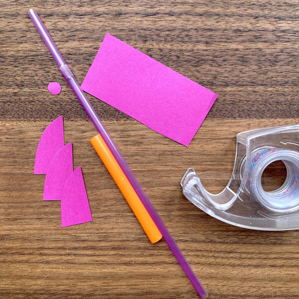 Forschen für Kinder_Mini-Trinkhalmrakete_Material