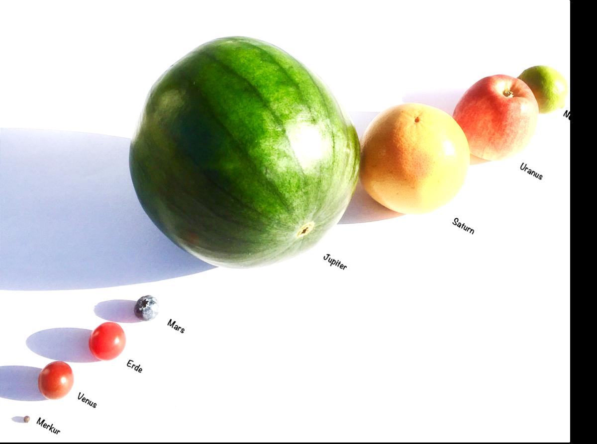 Forschen für Kinder Sonnensystem Nachbau Planeten