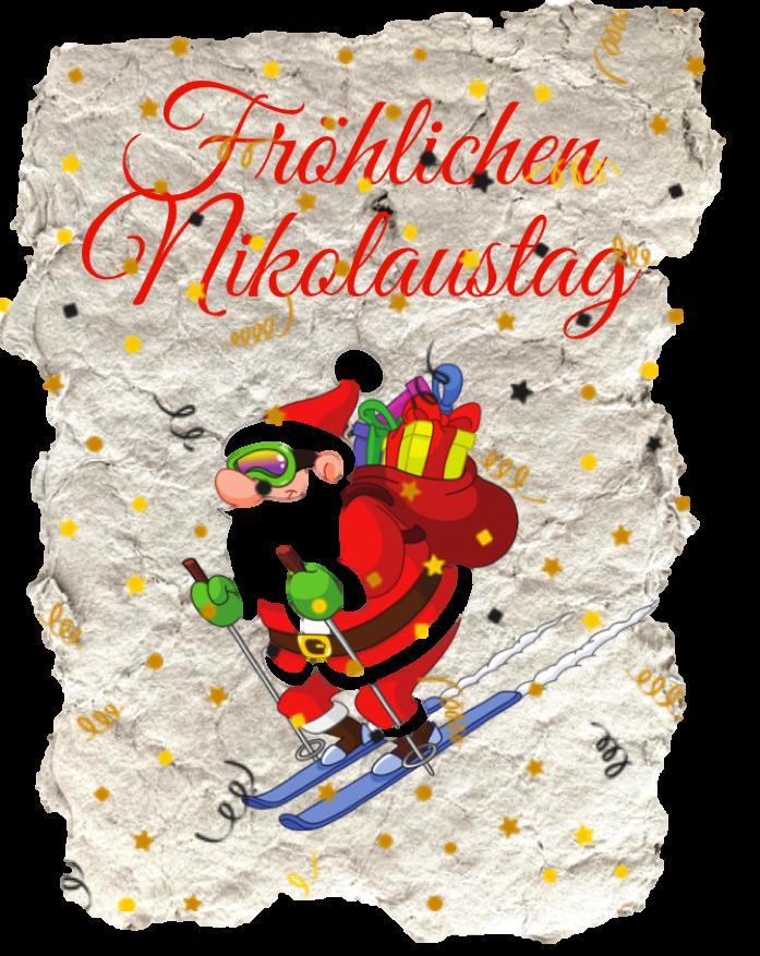Selbstgemachte Postkarte mit Nikolaus