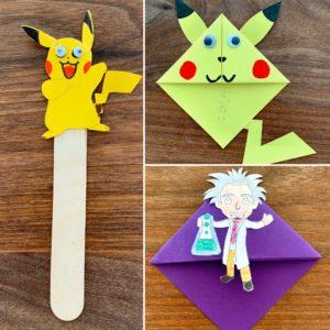 Übersicht von Lesezeichen. Forscher Pikachu Pokémon